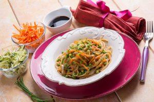 Spaghetti mit Sommergemüse