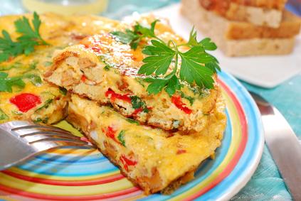Frittata mit Kartoffel und Paprika