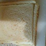 Toastscheiben Rand schneiden