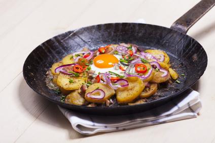 Resteverwertung von gekochten Kartoffeln
