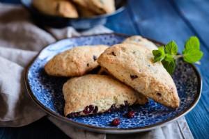 Buttermilch Scones mit Cranberries