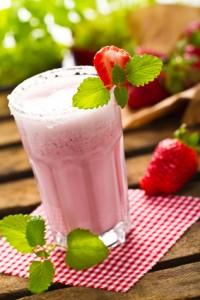 Erdbeer Bananenfrappe