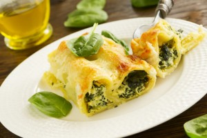 Cannelloni mit Spinatfüllung