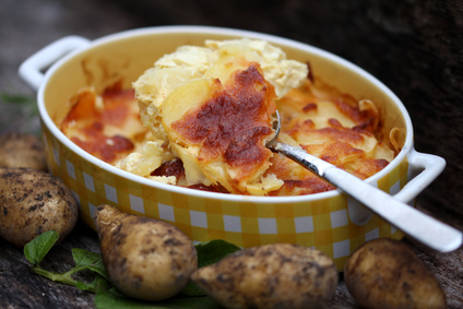 überbackene Kartoffel