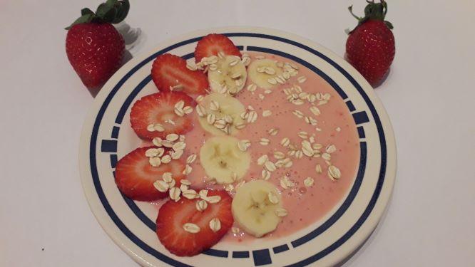 Bananen Erdbeer Müsli