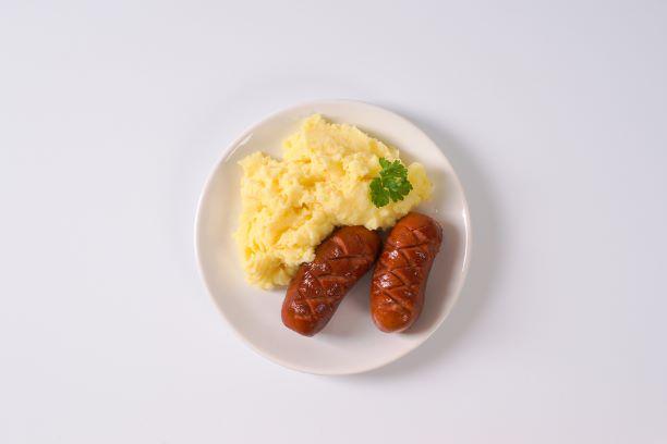 Knackwurst mit Kartoffelbrei