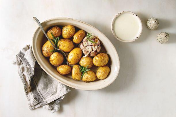 Ofenkartoffeln mit Käsesauce