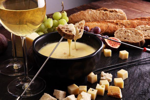 Käse Brot Fondue