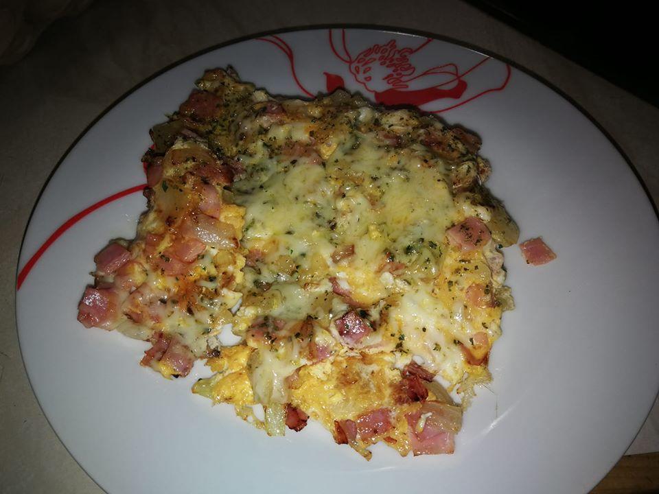 Käse Schinken Zwiebel Omelett
