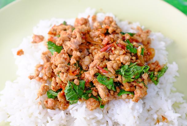 Reis Hackfleisch Gericht