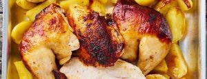 Hühnerschenkel mit Kartoffeln