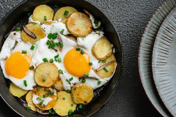 Kartoffelpfanne mit Spiegeleier