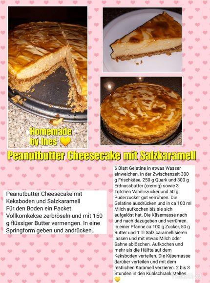 Peanutbutter Cheesecake mit Salzkaramell
