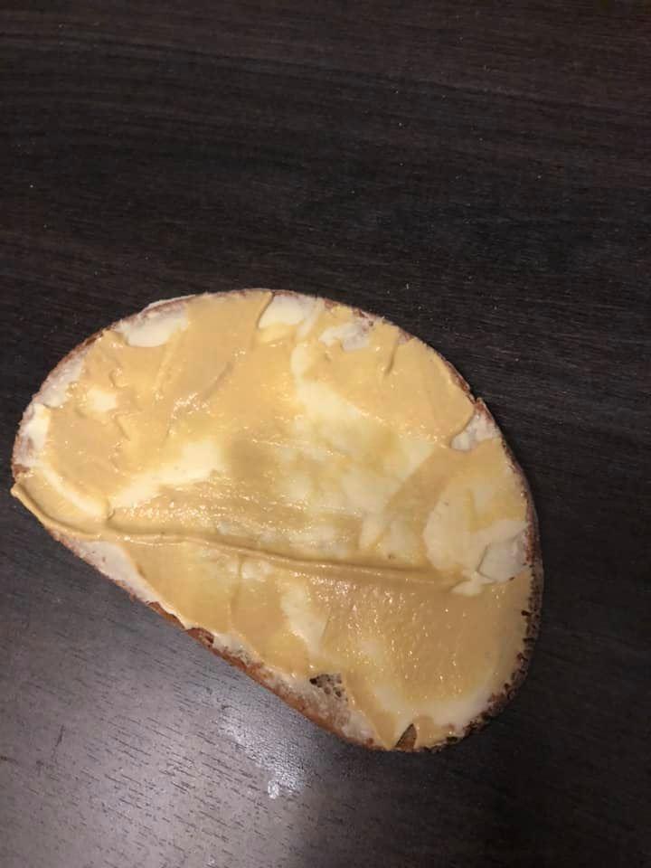 Butterbrot mit Senf