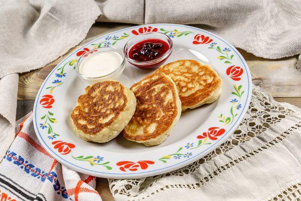 Pancakes mit Erdbeer Marmelade