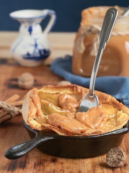 Apfelauflauf in der Pfanne gebacken