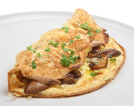 Omelette mit Champignons