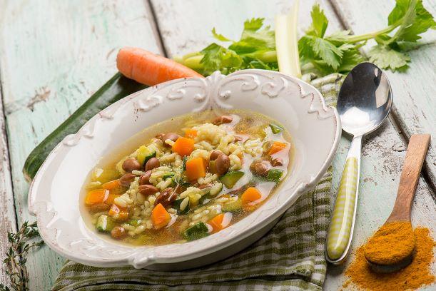 Reissuppe mit Gemüse aus Omas Küche, schnell gemacht