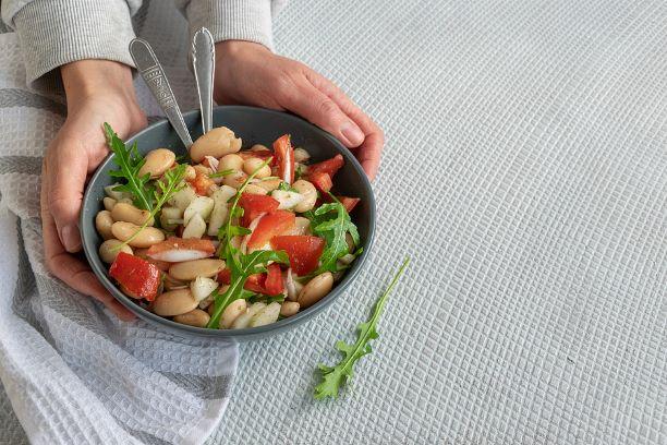 Einfacher Bohnensalat