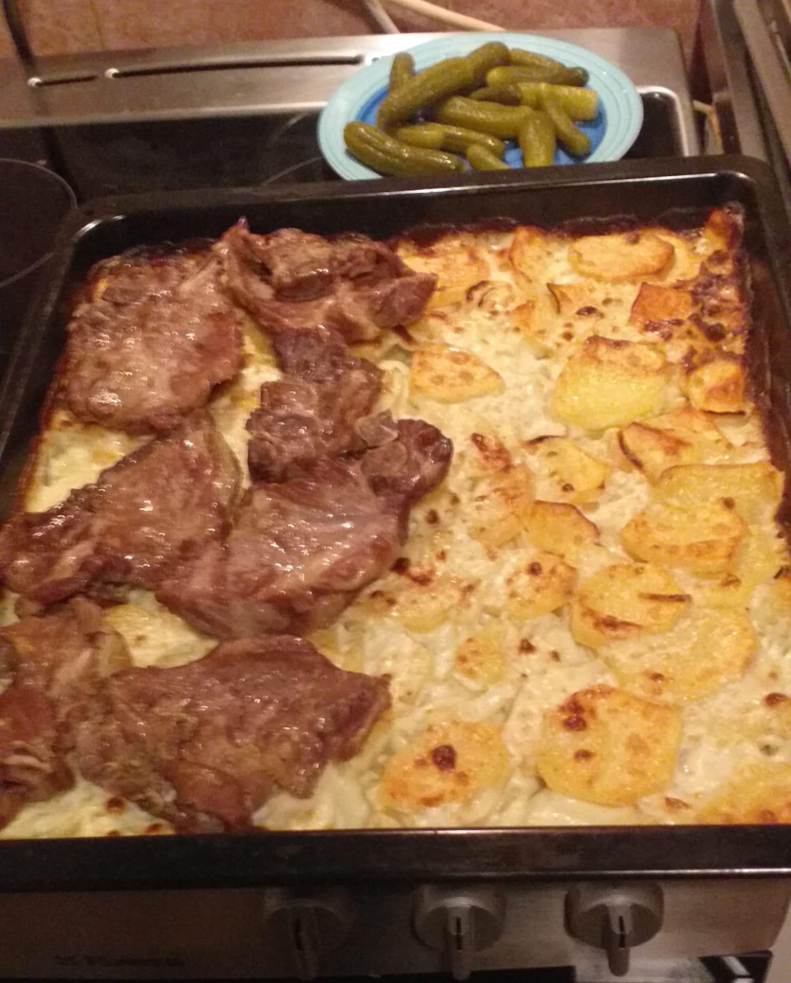 Nackenkotelett Rezept mit Kartoffeln