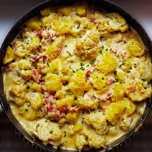 Blumenkohl Kartoffel Gratin