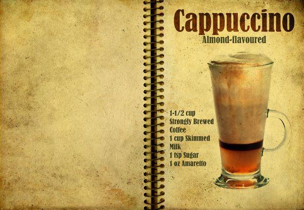 Cappuccino mit Mandelgeschmack