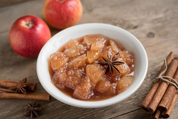 Selber gemachtes Apfelkompott