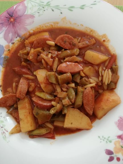 Kartoffel Fisolen Gulasch