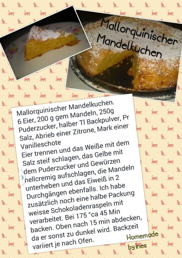 Saftig leichter mallorquinischer Mandelkuchen