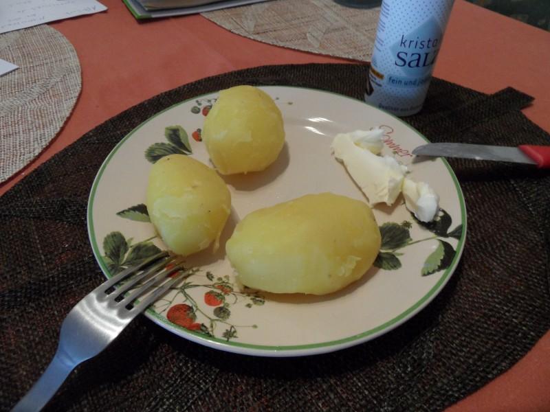 Platz 10 Kartoffel mit Salz und Butter