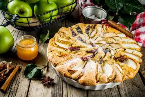 Apfel Biskuit Kuchen