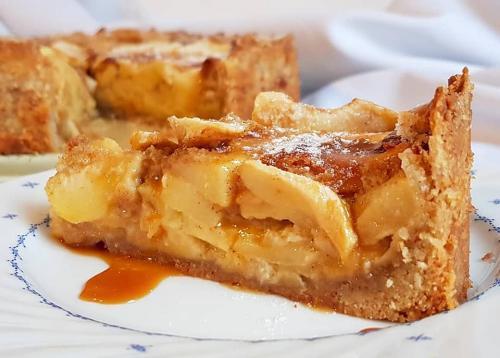 Apfel Karamell Kuchen