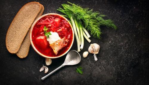 Borschtsch-russische Suppe