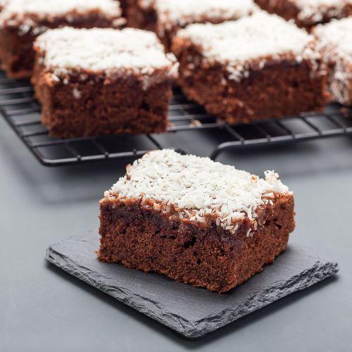 Brownies mit Kokosraspeln