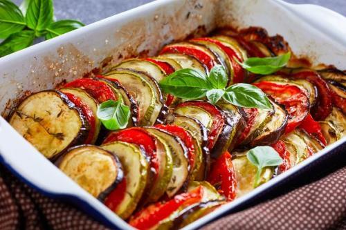 Bunter Zucchini Auflauf
