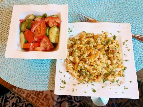 Eierspeise mit gemischten Salat