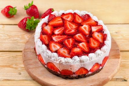 Platz 4 Erdbeer Joghurt Torte