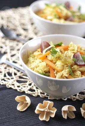 Gemuesewok mit Reis