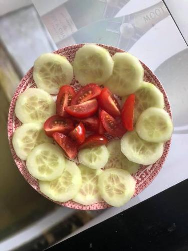 Gurken mit Tomaten