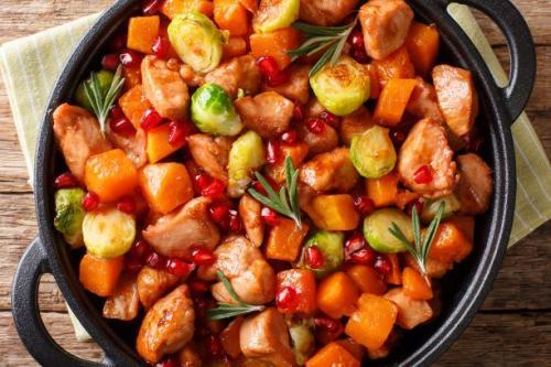 Hühnereintopf mit Süßkartoffeln
