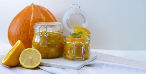Kürbismarmelade mit Orange und Zitrone