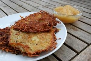 Kartoffel-Kohlrabi-Reibekuchen
