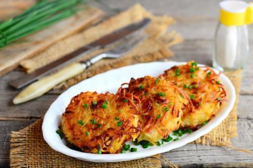 Kartoffelpuffer mit Schinken