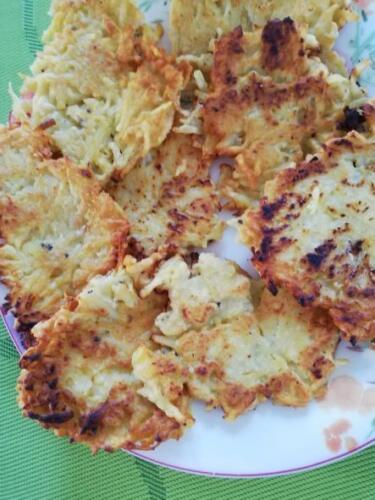 Kartoffelpuffer mit viel Knoblauch