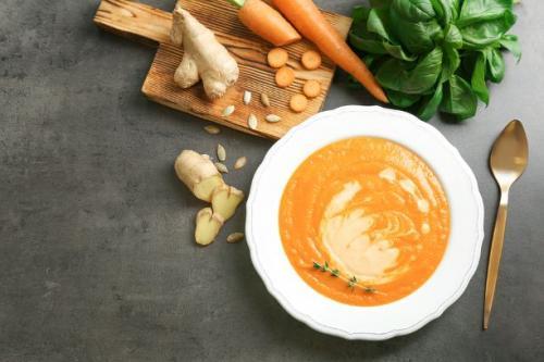 Möhren Ingwer Cremesuppe