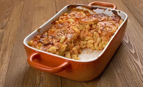 Makkaroni Zucchini Auflauf