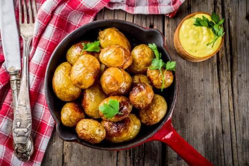 Ofenkartoffeln mit Käsesoße