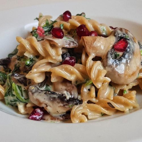 Pasta mit Gorgonzola Spinat Sauce
