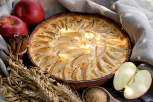 Quark Apfel Reisauflauf