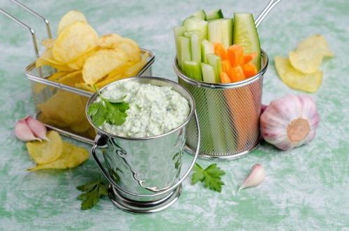 Quark Käse Dip mit Kräutern